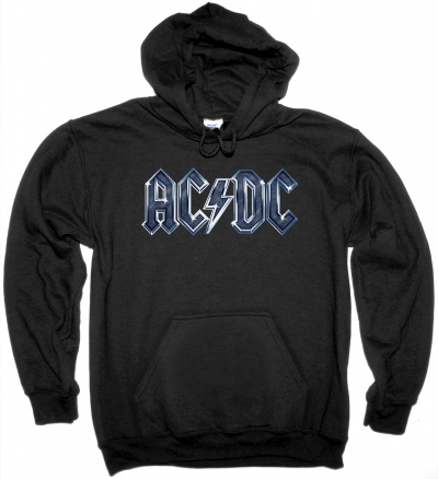 AC DC LOGO AC/DC NEW BLACK HOODIE