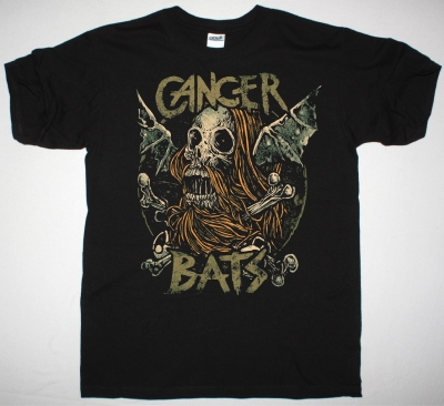 CANCER BATS SKULL BAT NEW BLACK T-SHIRT