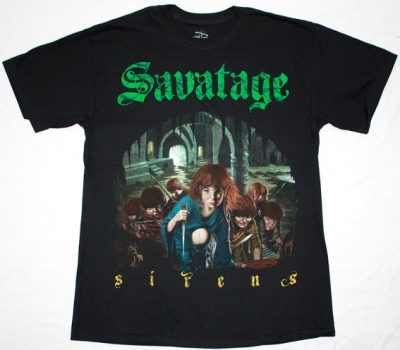 SAVATAGE SIRENS NEW BLACK T-SHIRT