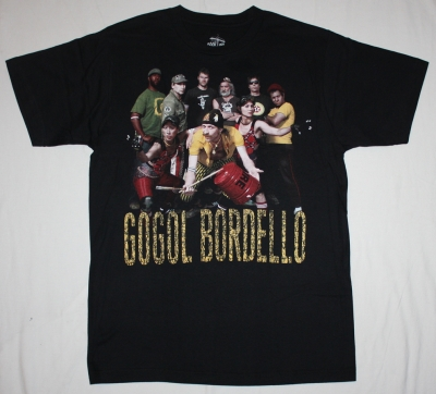 GOGOL BORDELLO BAND  NEW BLACK T-SHIRT
