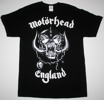 MOTORHEAD ENGLAND 2 NEW BLACK T-SHIRT