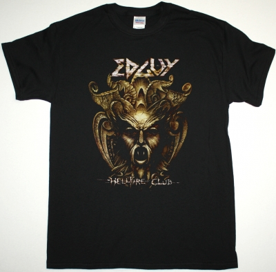EDGUY HELLFIRE CLUB NEW BLACK T-SHIRT