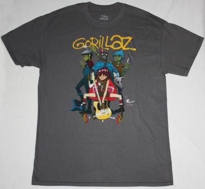GORILLAZ BAND NEW GREY CHARCOAL T-SHIRT