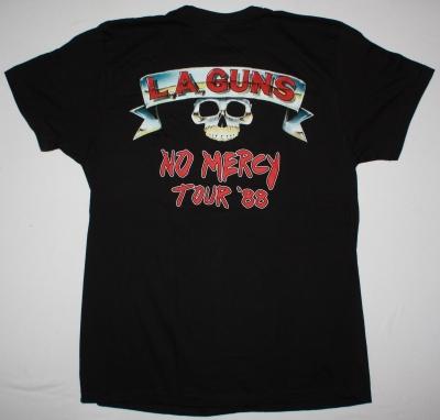 LA GUNS NO MERCY TOUR NEW BLACK TSHIRT