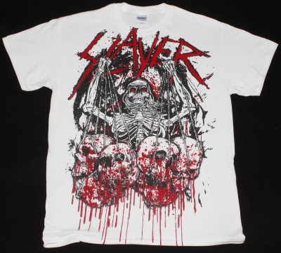 SLAYER SKULL TROPHIES NEW WHITE T-SHIRT