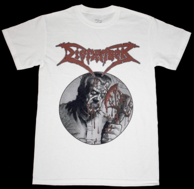 DISMEMBER SKIN HER ALIVE'91 NEW WHITE T-SHIRT