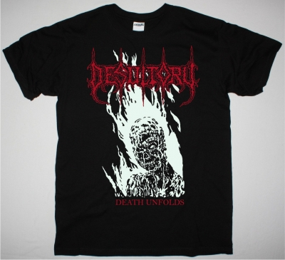 DESULTORY DEATH UNFOLDS DEMO 1990 NEW BLACK TSHIRT
