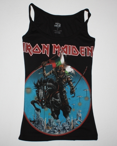 IRON MAIDEN BULGARIAN FLAG MAIDEN ENGLAND TOUR 2014 NEW VERY RARE BLACK WOMAN'S VEST TANK TOP