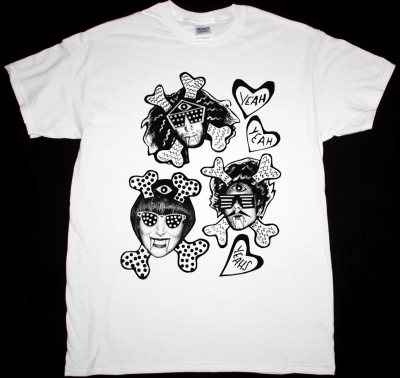 YEAH YEAH YEAHS FANGS AND BONES NEW WHITE T-SHIRT