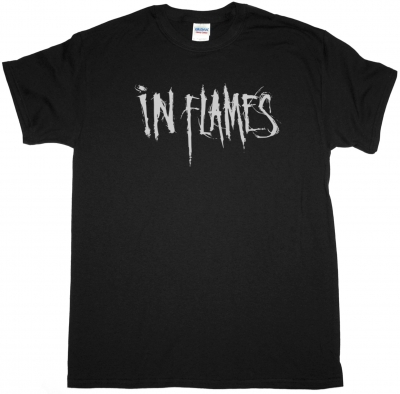 IN FLAMES LOGO NEW BLACK T-SHIRT