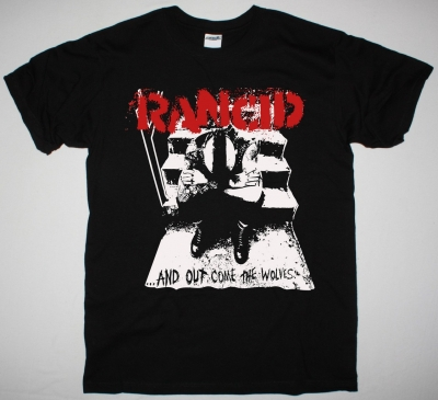 RANCID AND OUT COME THE WOLVES NEW BLACK T-SHIRT