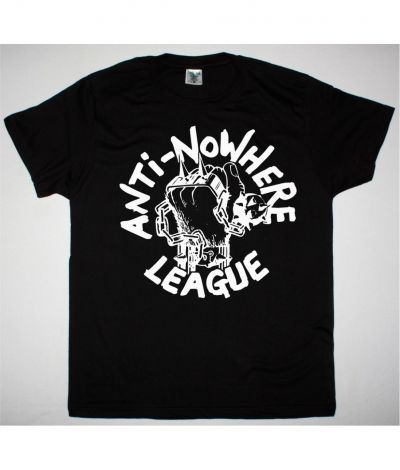 ANTI NOWHERE LEAGUE LOGO NEW BLACK T SHIRT