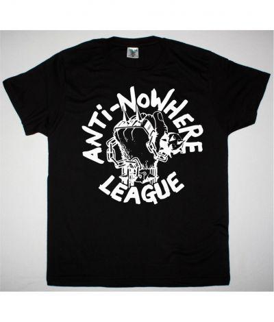 ANTI NOWHERE LEAGUE LOGO NEW BLACK T SHIRT