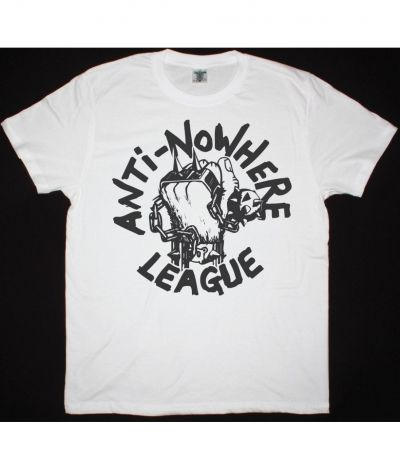 ANTI NOWHERE LEAGUE LOGO NEW WHITE T SHIRT