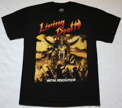 LIVING DEATH METAL REVOLUTION 1985 NEW BLACK T-SHIRT