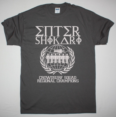 ENTER SHIKARI CROWUDSURF SQUAD NEW GREY T-SHIRT