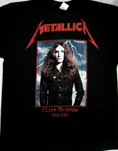 METALLICA CLIFF BURTON 1962-1986 BLACK T-SHIRT