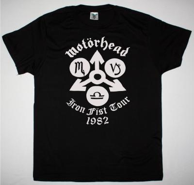 MOTORHEAD IRON FIST TOUR 1982 NEW BLACK T SHIRT