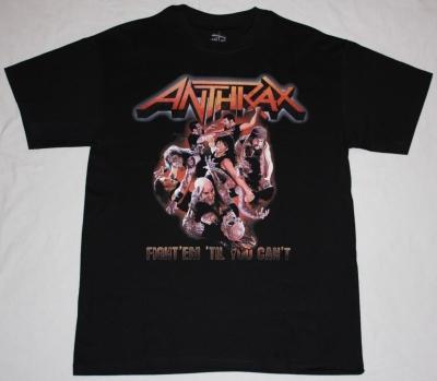 ANTHRAX FIGHT 'EM WORSHIP MUSIC NEW BLACK T-SHIRT
