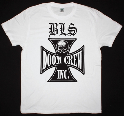 BLACK LABEL SOCIETY DOOM CREW NEW WHITE T-SHIRT