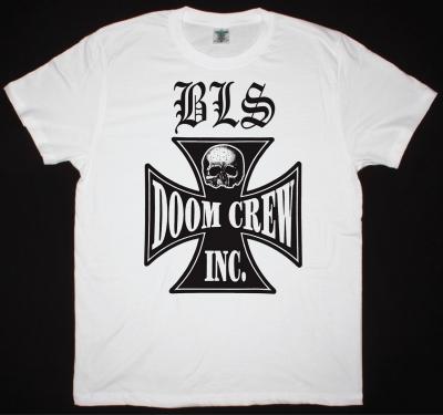 BLACK LABEL SOCIETY DOOM CREW NEW WHITE T-SHIRT
