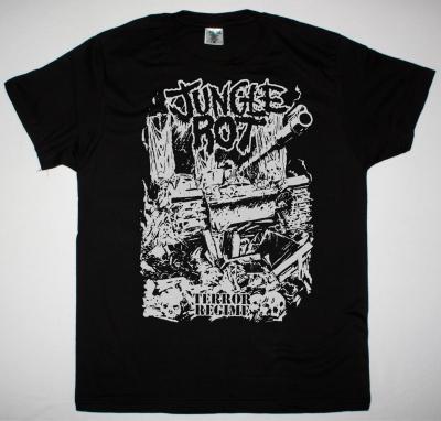 JUNGLE ROT TERROR REGIME NEW BLACK T-SHIRT