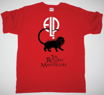ELP EMERSON LAKE AND PALMER THE RETURN OF THE MANTICORE NEW RED T-SHIRT