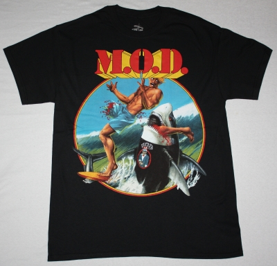 M.O.D. SURFIN' M.O.D.88 NEW BLACK T-SHIRT