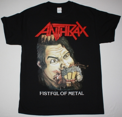 ANTHRAX FISTFUL OF METAL NEW BLACK T SHIRT