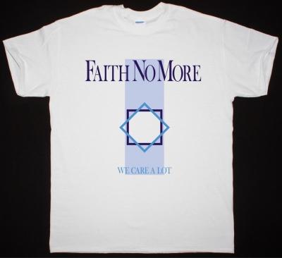 FAITH NO MORE WE CARE A LOT NEW WHITE T-SHIRT