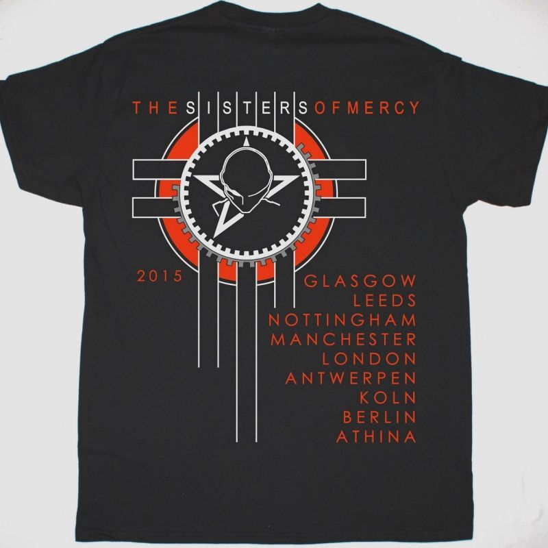 THE SISTERS OF MERCY 2015 TOUR NEW BLACK T-SHIRT
