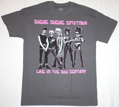 SIGUE SIGUE SPUTNIK 21ST CENTURY GENERATION X NEW GREY T-SHIRT