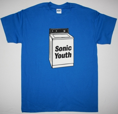 SONIC YOUTH WASHING MACHINE NEW BLUE T SHIRT