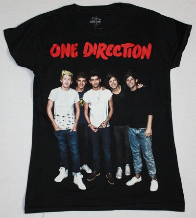 ONE DIRECTION BAND NEW BLACK LADY T-SHIRT