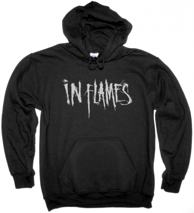 IN FLAMES LOGO NEW BLACK HOODIE