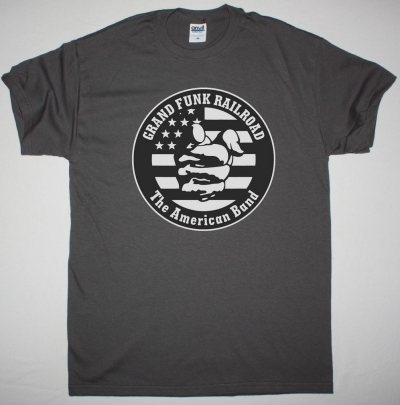 GRAND FUNK RAILROAD THE AMERICAN BAND NEW GREY T-SHIRT