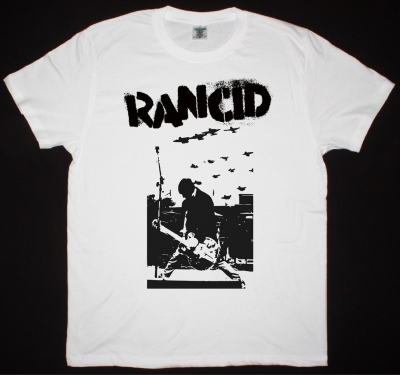 RANCID TIM LIVE NEW WHITE T-SHIRT