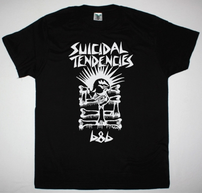 SUICIDAL TENDENCIES B&B NEW BLACK T-SHIRT