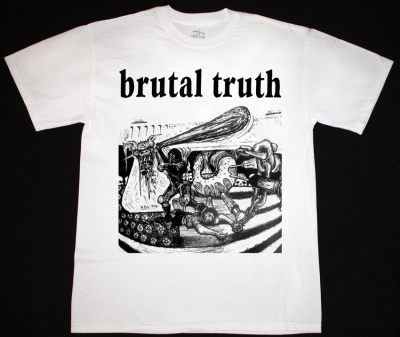 BRUTAL TRUTH KILL PIG  NEW WHITE T-SHIRT