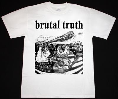 BRUTAL TRUTH KILL PIG  NEW WHITE T-SHIRT