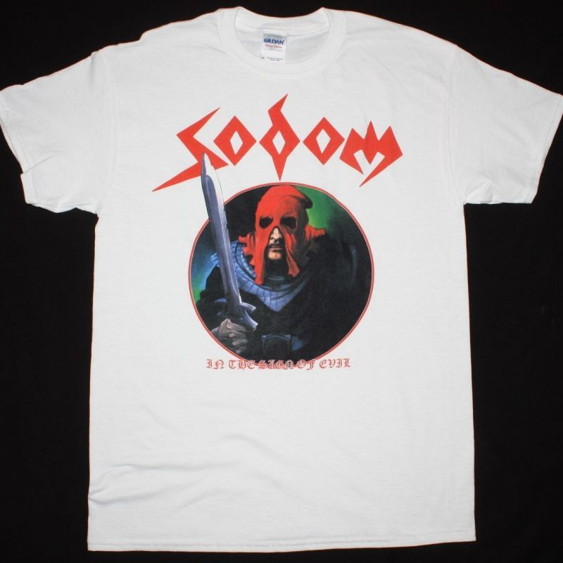 SODOM IN THE SIGN OF EVIL'84  NEW WHITE T-SHIRT