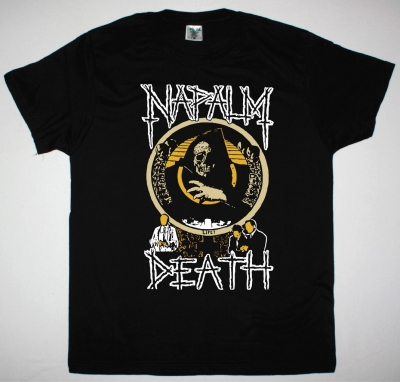 NAPALM DEATH LIFE NEW BLACK T-SHIRT