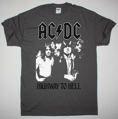 AC DC HIGHWAY TO HELL 1979 AC/DC NEW GREY T-SHIRT