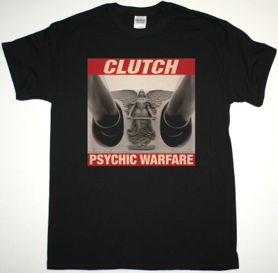 CLUTCH PSYCHIC WARFARE NEW BLACK T SHIRT