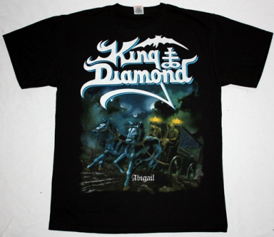 KING DIAMOND ABIGAIL'87  NEW BLACK T-SHIRT