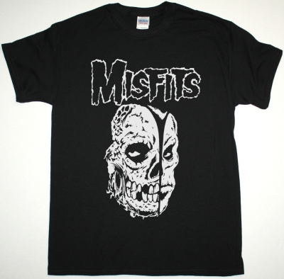 MISFITS TWO FACES OF EVIL NEW BLACK T SHIRT