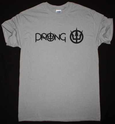 PRONG LOGO NEW LIGHT GREY T-SHIRT