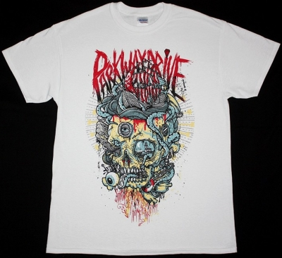 PARKWAY DRIVE SHIPWRECKED BONES NEW WHITE T-SHIRT
