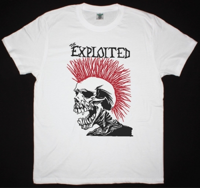 EXPLOITED LET'S START A WAR NEW WHITE T-SHIRT