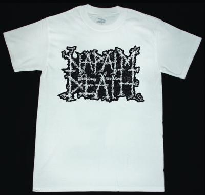 NAPALM DEATH LOGO S-XXL NEW WHITE T-SHIRT